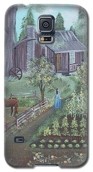 Galaxy S5 Case featuring the painting Farmstead by Virginia Coyle
