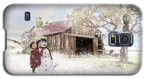 Farmstyle Snowman Galaxy S5 Case by Mary Timman