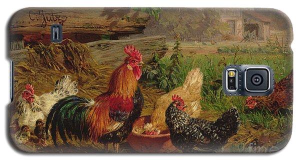 Farmyard Chickens Galaxy S5 Case by Carl Jutz