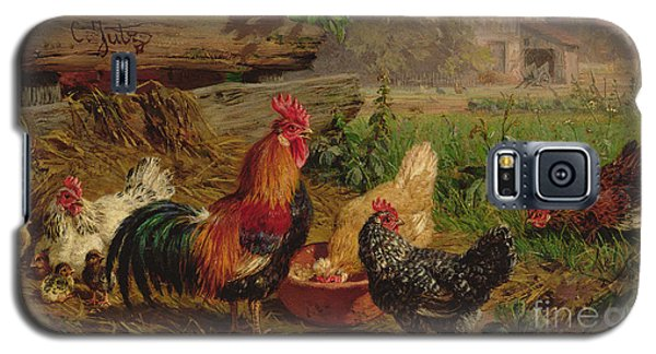 Farmyard Chickens Galaxy S5 Case by Carl Jutz