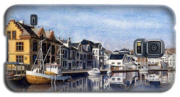 Farsund Dock Scene 2 Galaxy S5 Case by Janet King