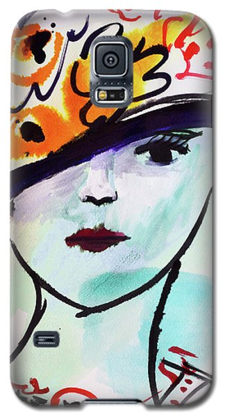 Fashion, Vintage Hat With Flowers Galaxy S5 Case