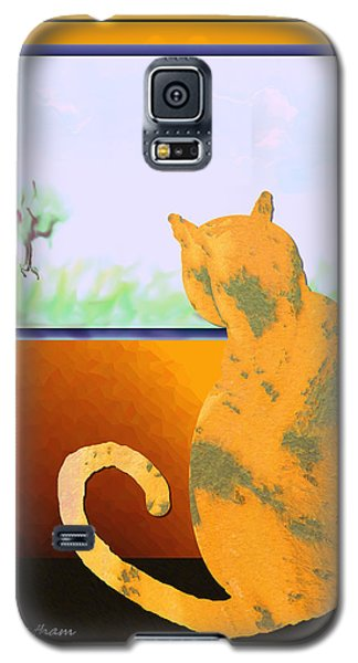 Fat Cat At Her Window Galaxy S5 Case