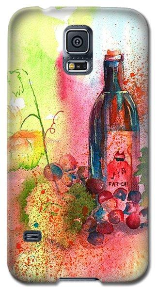 Fat Cat Wine Galaxy S5 Case by Sharon Mick