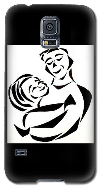 Father And Child Galaxy S5 Case by Delin Colon