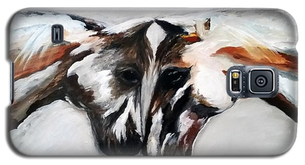 Galaxy S5 Case featuring the painting Father And Daughter - Find All The Animals Inside by Barbie Batson