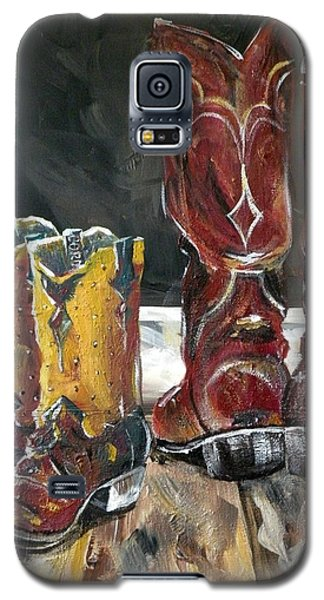 Father And Son Boots Galaxy S5 Case by Holly York