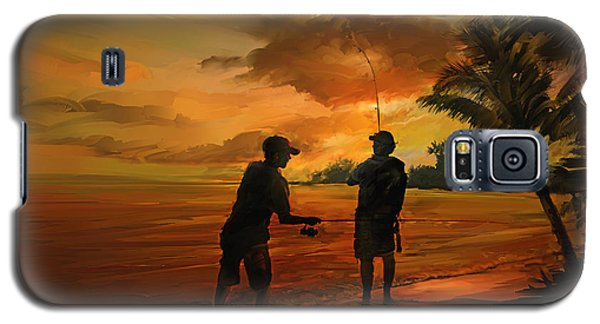 Father And Son Fishing Galaxy S5 Case