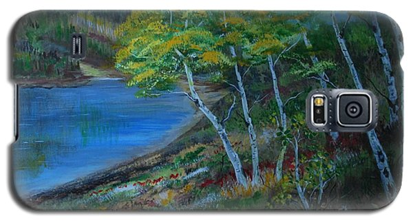 Galaxy S5 Case featuring the painting Favorite Fishin' Hole by Leslie Allen