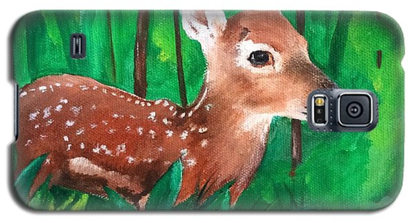 Galaxy S5 Case featuring the painting Fawn by Ellen Canfield