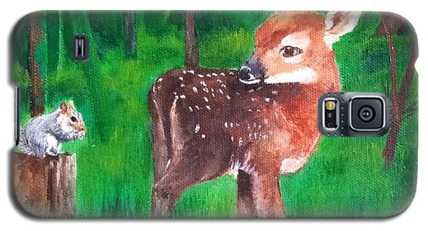 Fawn With Squirrel Galaxy S5 Case