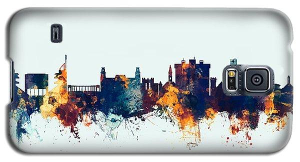 Galaxy S5 Case featuring the digital art Fayetteville Arkansas Skyline by Michael Tompsett