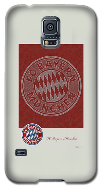 Fc Bayern Munich Logo And 3d Badge Galaxy S5 Case by Serge Averbukh