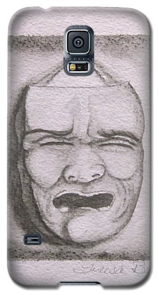 Galaxy S5 Case featuring the painting Fear by Teresa Beyer