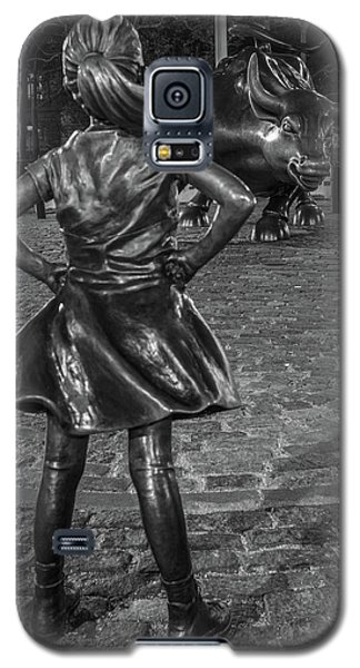 Fearless Girl And Charging Bull Nyc Galaxy S5 Case
