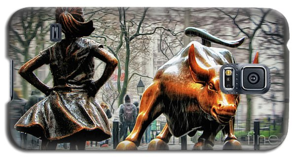 Fearless Girl And Wall Street Bull Statues Galaxy S5 Case