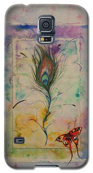 Feather And Butterfly Galaxy S5 Case