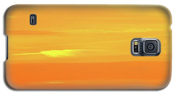 Feather Cloud In An Orange Sky  Galaxy S5 Case by Lyle Crump