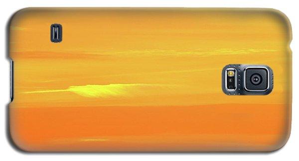 Feather Cloud In An Orange Sky  Galaxy S5 Case