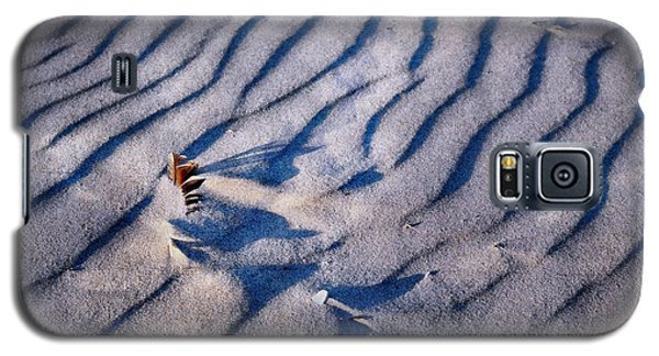 Galaxy S5 Case featuring the photograph Feather In Sand by Michelle Calkins