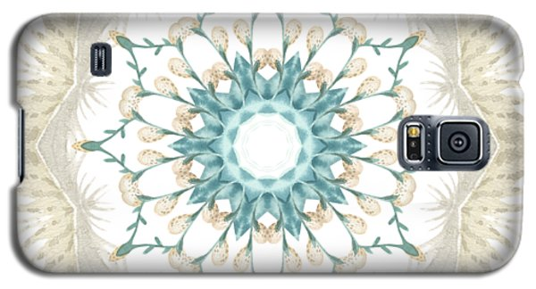 Galaxy S5 Case featuring the digital art Feathers And Catkins Kaleidoscope Design by Mary Machare