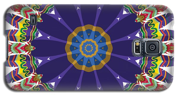 Galaxy S5 Case featuring the digital art Feathers In The Round by Mary Machare