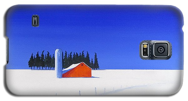 Galaxy S5 Case featuring the painting February Fields by Jo Appleby