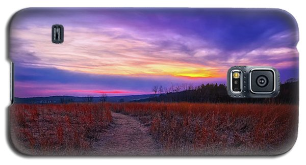 Galaxy S5 Case featuring the photograph February Sunset And Path At Retzer Nature Center by Jennifer Rondinelli Reilly - Fine Art Photography