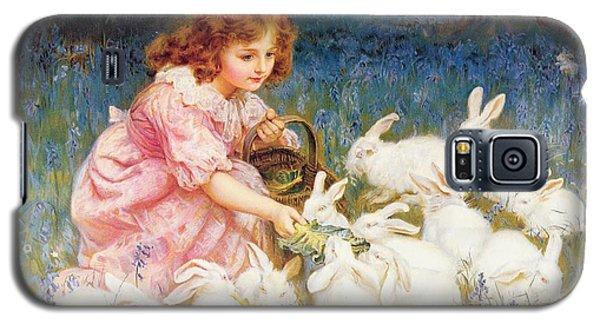Feeding The Rabbits Galaxy S5 Case by Frederick Morgan