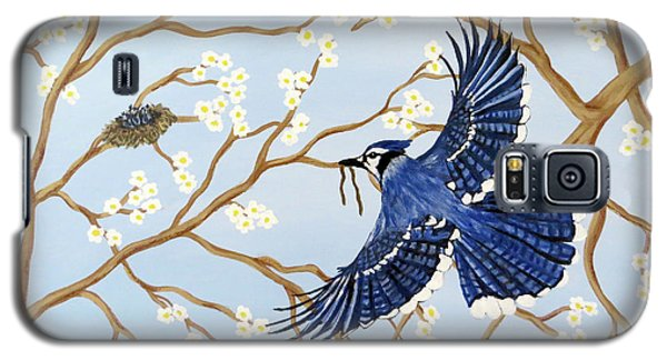 Galaxy S5 Case featuring the painting Feeding Time by Teresa Wing
