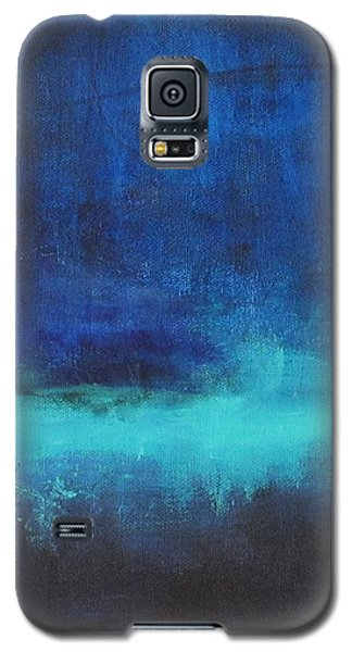 Galaxy S5 Case featuring the painting Feeling Blue by Nicole Nadeau