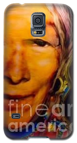 Galaxy S5 Case featuring the painting Feeling Light Within We Walk by FeatherStone Studio Julie A Miller