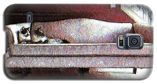 Felines Be Like... Galaxy S5 Case by Iowan Stone-Flowers