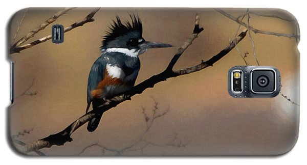 Galaxy S5 Case featuring the digital art Female Belted Kingfisher by Ernie Echols