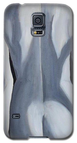 Galaxy S5 Case featuring the painting female Black and White by Lori Jacobus-Crawford
