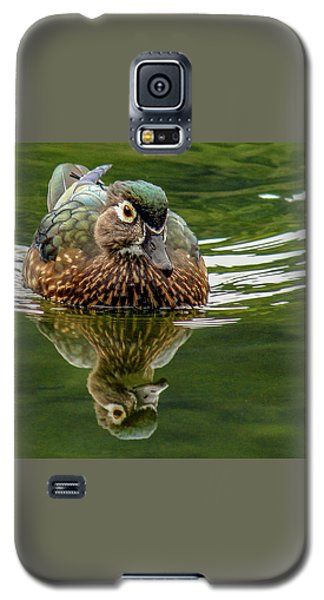 Galaxy S5 Case featuring the photograph Female Wood Duck by Jean Noren