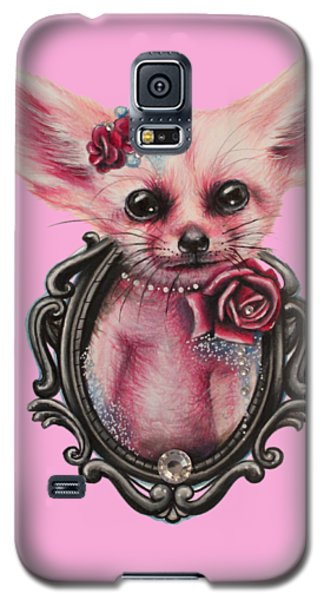 Galaxy S5 Case featuring the drawing Fennec Fox by Sheena Pike