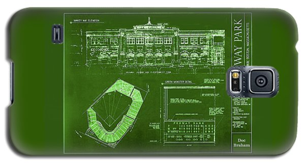 Fenway Park Blueprints Home Of Baseball Team Boston Red Sox Galaxy S5 Case