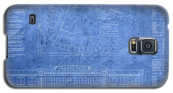 Fenway Park Blueprints Home Of Baseball Team Boston Red Sox On Worn Parchment Galaxy S5 Case