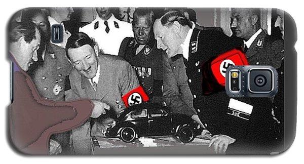 Ferdinand Porsche Showing The Prototype Of The Vw Beetle To Adolf Hitler 1935-2015 Galaxy S5 Case