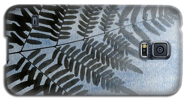 Fern Abstracted In Blue Galaxy S5 Case