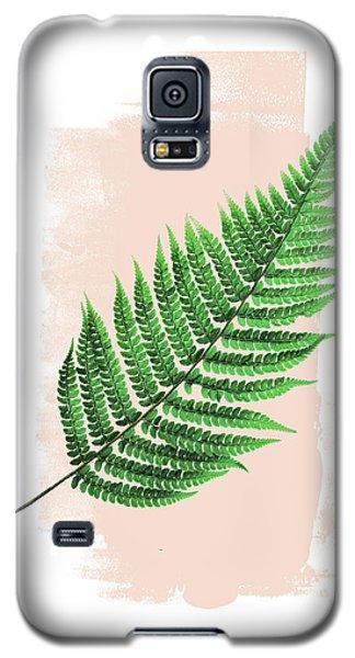 Fern Leaf On Pink Galaxy S5 Case