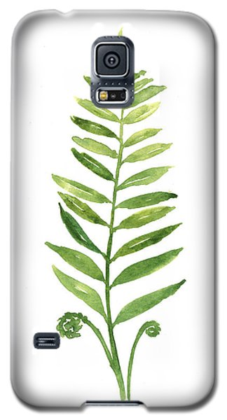 Fern Leaf Watercolor Painting Galaxy S5 Case by Joanna Szmerdt