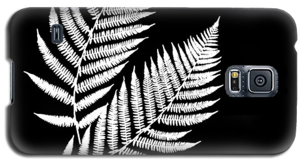 Galaxy S5 Case featuring the mixed media Fern Pattern Black And White by Christina Rollo