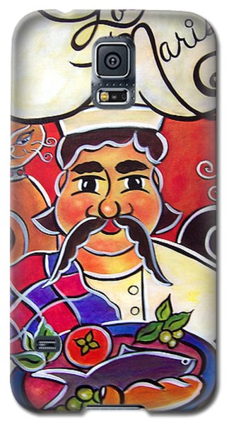 Galaxy S5 Case featuring the painting Fernando And The Fish by Jan Oliver-Schultz