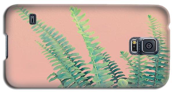 Ferns On Pink Galaxy S5 Case