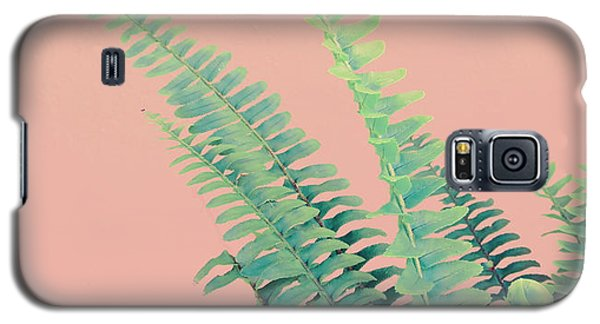 Ferns On Pink Galaxy S5 Case