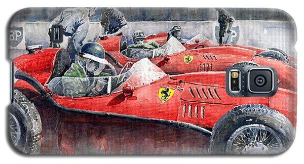 Car Galaxy S5 Case - Ferrari Dino 246 F1 1958 Mike Hawthorn French Gp  by Yuriy Shevchuk
