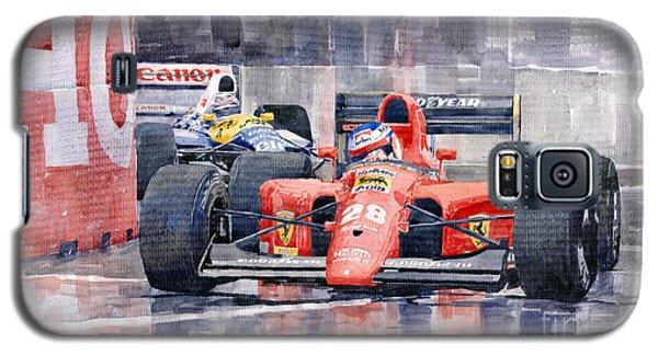 Car Galaxy S5 Case - 1991 Ferrari F1 Jean Alesi Phoenix Us Gp Arizona 1991 by Yuriy Shevchuk