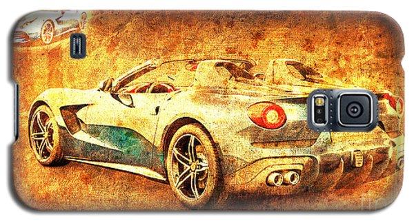 Sport Art Galaxy S5 Case - Ferrari F60 America, Golden Poster, Birthday Gift For Men by Drawspots Illustrations
